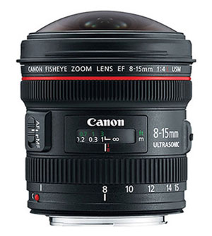 Canon zoom fisheye 8-15