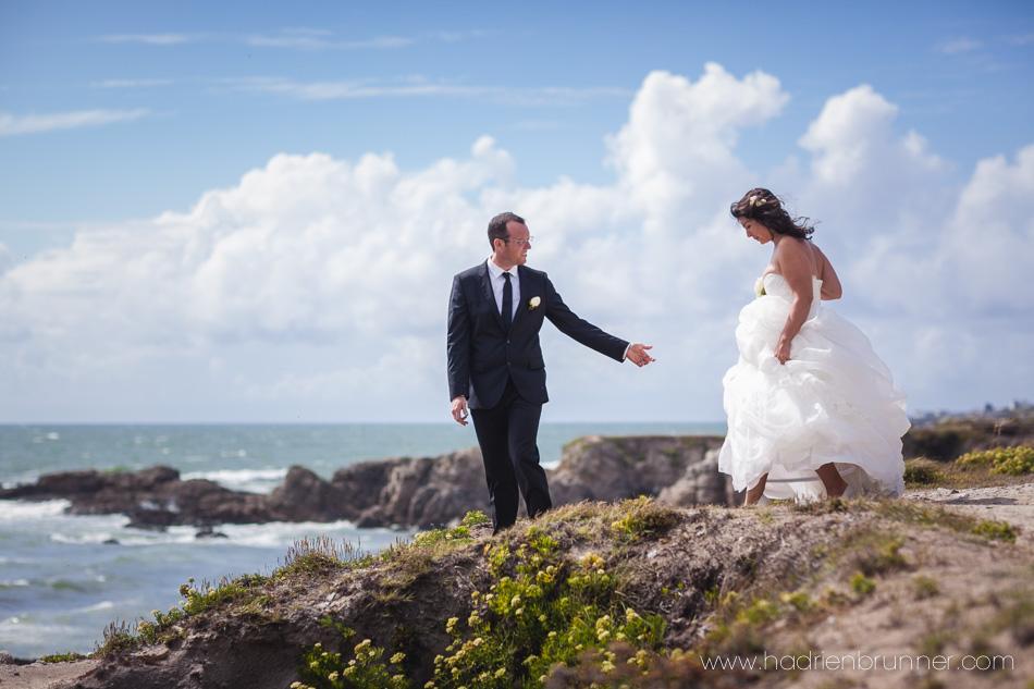 Photogrape de Mariage sur la côte sauvage du Croisic