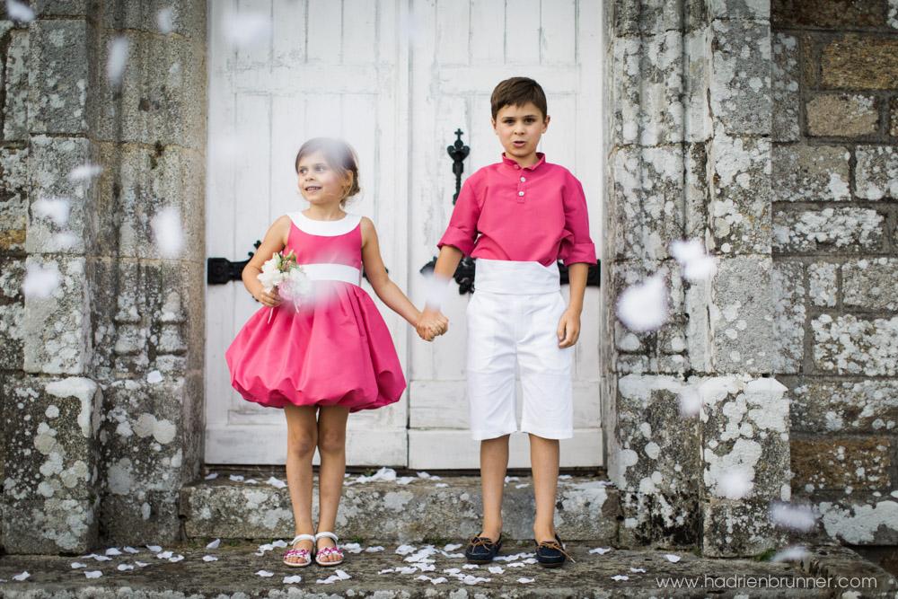 Photo enfants tenues cérémonie Mariage