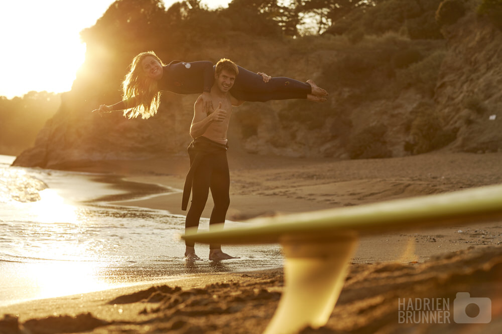 Engagement Session Surf La Baule - Photographe Hadrien BRUNNER