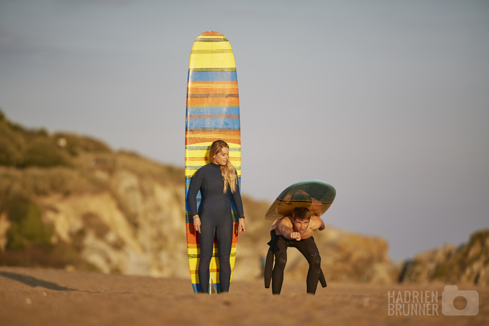Seance engagement couple et surf 44