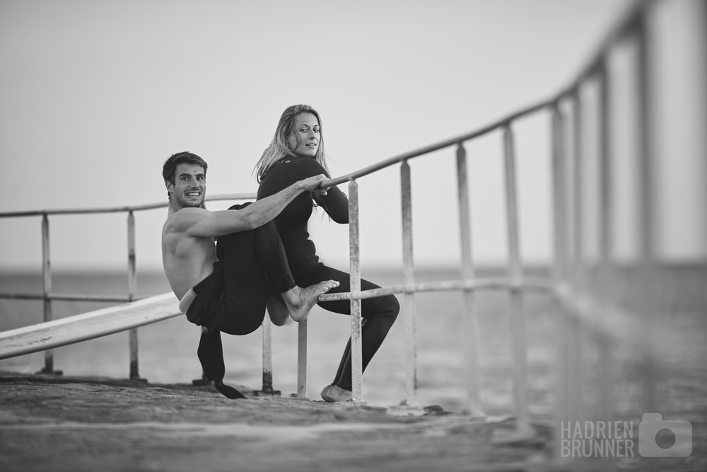Shooting Pornichet lifestyle Surf Couple - Photographe Hadrien BRUNNER